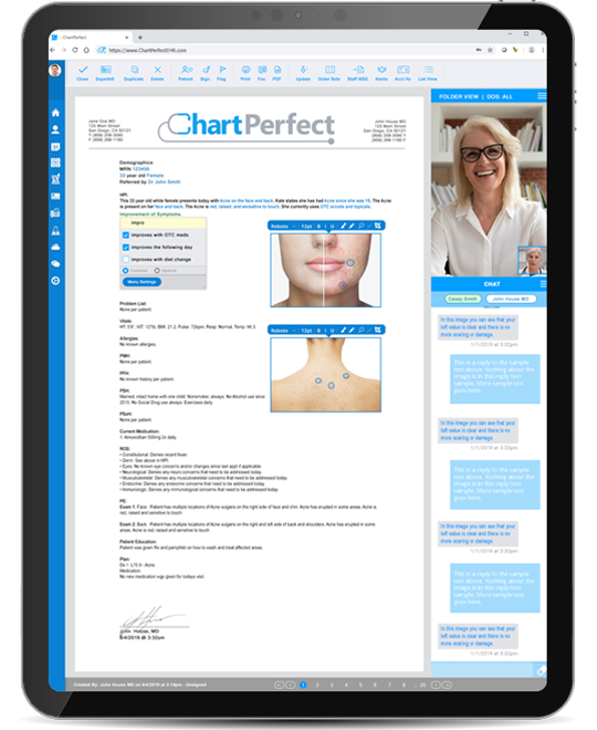 ChartPerfect EHR integrated telehealth solution